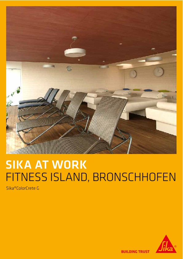 Fitness Island Bronschhofen - Sika®ColorCrete G