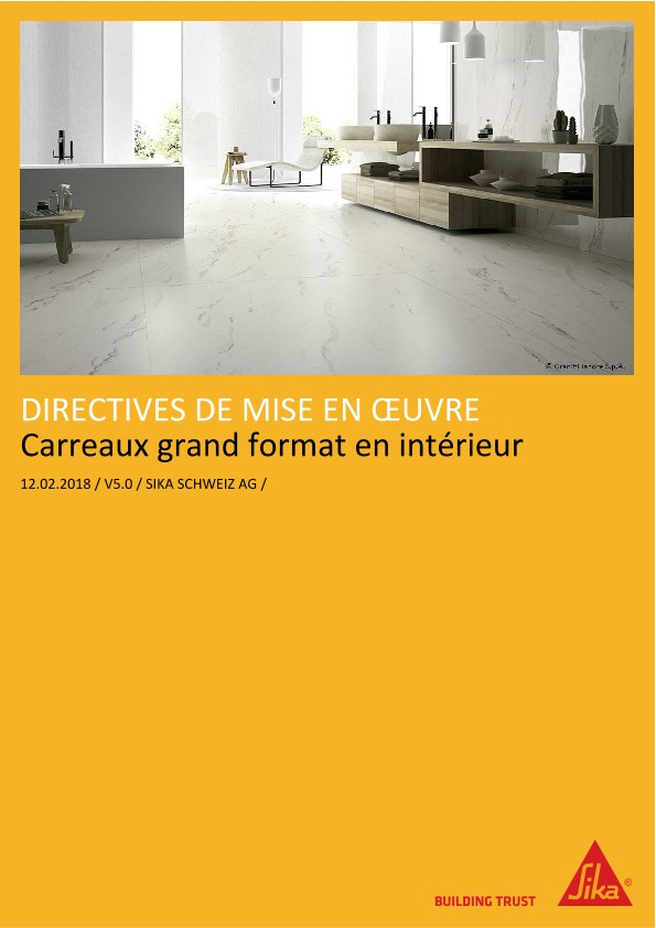 Carreaux grand format