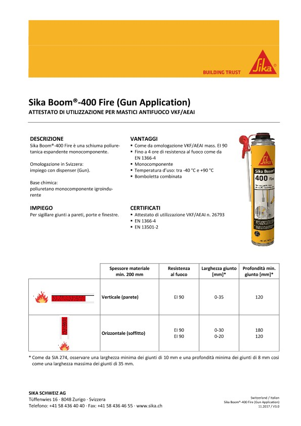 Sika Boom-400 Fire (Gun Application)