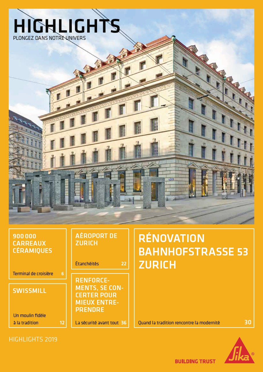 Sika® Highlights 2019, Ausgabe 1