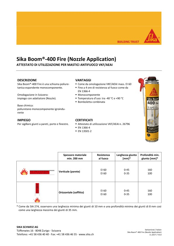 Sika Boom-400 Fire (Nozzle Application)