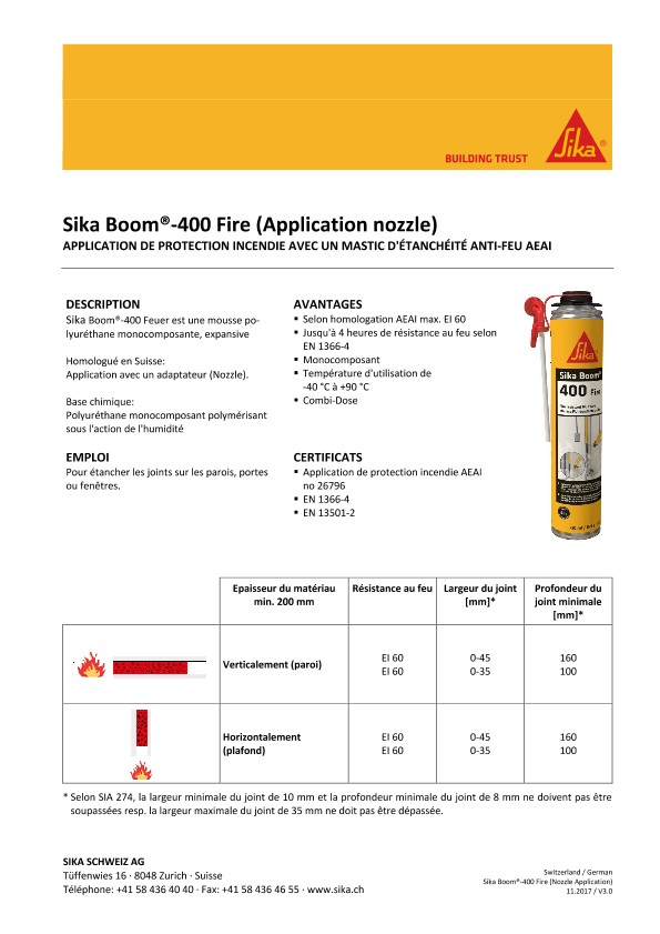 Sika Boom-400 Fire (Application nozzle)